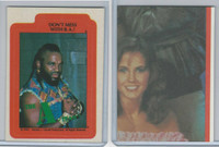 1983 Topps, A-Team Stickers, #6 Don't Mess With B.A.