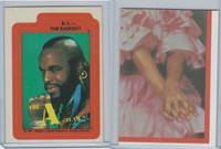 1983 Topps, A-Team Stickers, #8 B.A. The Baddest