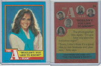1983 Topps, A-Team, #24 Wouldn't You Like To Know