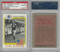 1983 Topps, Greatest Olympians, #14 Karl Warner, PSA 10 Gem