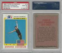 1983 Topps, Greatest Olympians, #16 Jennifer Chandler, PSA 10 Gem
