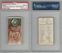 N218 Kinney, Famous Gems of the World, 1889, Beryl America, PSA 2 Good