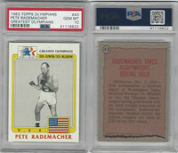 1983 Topps, Greatest Olympians, #43 Pete Rademacher, Boxing, PSA 10 Gem