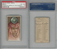 N218 Kinney, Famous Gems of the World, 1889, Beryl America, PSA 4 VGEX