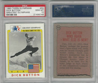 1983 Topps, Greatest Olympians, #55 Dick Button, Ice Skating, PSA 10 Gem