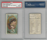 N218 Kinney, Famous Gems of the World, 1889, Cape Diamond Africa, PSA 3 MC VG