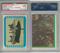 1983 Topps, Star Wars Return of Jedi Stickers, #47 Desert Yacht, PSA 9 Mint