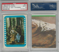 1983 Topps, Star Wars Return of Jedi Stickers, #50 Heroes on Endor, PSA 9 Mint