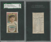 N218 Kinney, Famous Gems of the World, 1889, Diamond Bombay, SGC 20 Fair