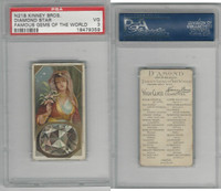 N218 Kinney, Famous Gems of the World, 1889, Diamond Star of South, PSA 3 VG