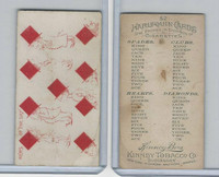 N219 Kinney, Harlequin Cards, 1888, Diamond 9, News Of The Day