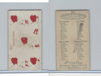 N219 Kinney, Harlequin Cards, 1888, Heart 5, Red Republicans
