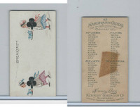 N219 Kinney, Harlequin Cards, 1888, Club 2, Breakfast