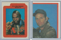 1983 Topps, A-Team Stickers, #1 B.A. Baracus