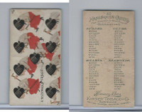 N219 Kinney, Harlequin Cards, 1888, Spade 9 Witches Frolic