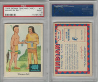 1959 Fleer, Indian Trading, #20 Wampum Belt, PSA 9 Mint