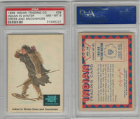 1959 Fleer, Indian Trading, #28 Indian In Winter Dress, PSA 8 NMMT
