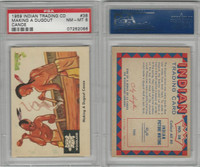 1959 Fleer, Indian Trading, #38 Making A Dugout Canoe, PSA 8 NMMT