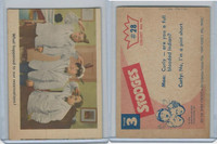 1959 Fleer, The 3 Stooges, #28 What Happened To Our Reservations!