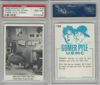 1965 Fleer, Gomer Pyle, #18 While You're Down There Pyle, PSA 8 NMMT