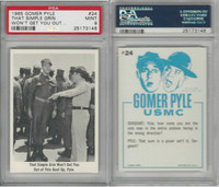1965 Fleer, Gomer Pyle, #24 That Simple Grin Won't Get You Out, PSA 9 Mint