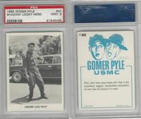 1965 Fleer, Gomer Pyle, #40 Shazam! Looky Here!, PSA 9 Mint
