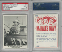 1965 Fleer, McHale's Navy, #24 All Right Captain, Stop Gasping, PSA 9 Mint