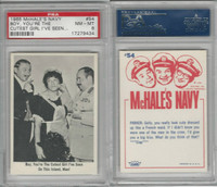1965 Fleer, McHale's Navy, #54 Boy, You're The Cutest Girl I've Seen, PSA 8 NMMT