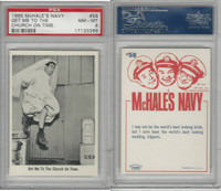 1965 Fleer, McHale's Navy, #58 Get Me To The Church On Time, PSA 8 NMMT