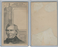 H602 Victorian Card, Presidents, 1890's, Zachary Taylor