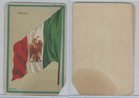 H626, Blank Back, National Flags, 1909, Mexico