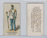 N224 Kinney 1887, Military, Austria,#292 Drum Major Austria 1886