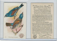 J2, Church & Dwight, Beautiful Birds New Series, 1896, #25 Blue Long Grosbeak