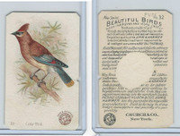 J2, Church & Dwight, Beautiful Birds New Series, 1896, #32 Cedar Bird