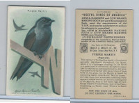 J9-5, Church & Dwight, Useful Birds America 9th Ser., 1925, #14 Purple Martin