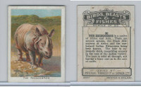 C1 Imperial Tobacco, Birds, Beasts, & Fishes, 1923, #30 Rhinoceros