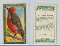 C14 Imperial Tobacco, Game Bird Series, 1910, #15 Vermillion Flycatcher