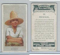 C6 Imperial Tobacco, Children Of All Nations, 1924, #26 Mexico