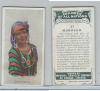 C6 Imperial Tobacco, Children Of All Nations, 1924, #27 Morocco