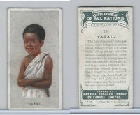 C6 Imperial Tobacco, Children Of All Nations, 1924, #28 Natal