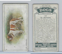 C8 Imperial Tobacco Company, Dog 2nd Series, 1920's, #26 St. Bernard