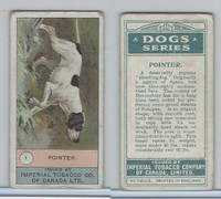 C7 Imperial Tobacco Company, Dog Series, 1920's, #1 Pointer