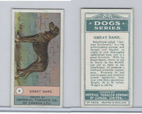 C7 Imperial Tobacco Company, Dog Series, 1920's, #9 Great Dane