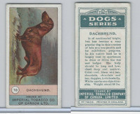 C7 Imperial Tobacco Company, Dog Series, 1920's, #10 Dachshund