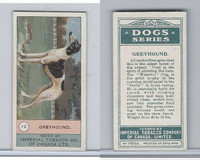 C7 Imperial Tobacco Company, Dog Series, 1920's, #12 Greyhound