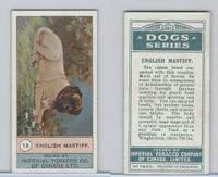 C7 Imperial Tobacco Company, Dog Series, 1920's, #13 English Mastiff