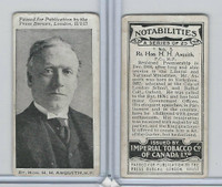 C24 Imperial Tobacco, Notabilities, 1917, #5 HH Asquith