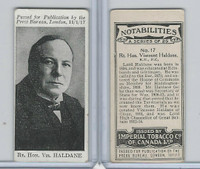 C24 Imperial Tobacco, Notabilities, 1917, #17 Viscount Haldane