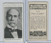 C24 Imperial Tobacco, Notabilities, 1917, #18 Marquess of Lansdowne