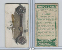 C22 Imperial Tobacco, Motor Cars, 1921, #14 Wolseley